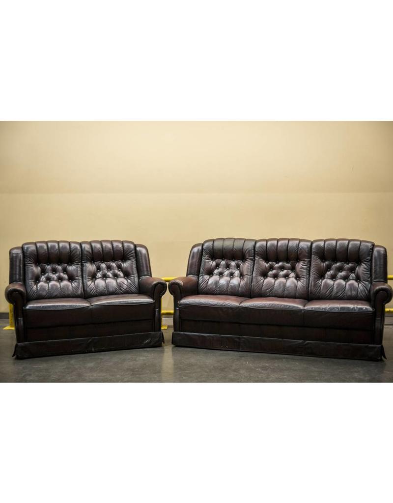 Retro Möbel Klassische Ledergarnitur