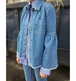 NORR Theresa denim shirt blue