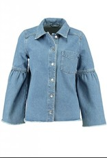 NORR Theresa denim shirt blue