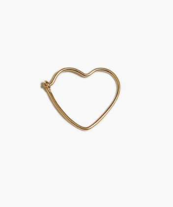 fashionoligy Heart Hoop Earring gold 20 mm
