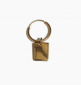 fashionoligy Rectangle tag hoop earring gold