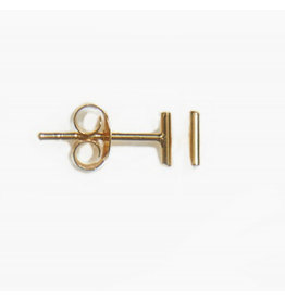 fashionoligy Tiny bar earpins gold 5mm