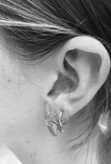 fashionoligy Ivy hoop earring silver