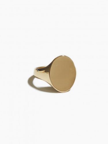 fashionoligy Oval  signet ring gold