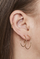fashionoligy Sleeper Hoop Earrings Gold 25mm