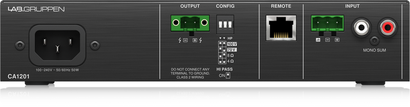 Lab Gruppen - X2B - ENTE CA1201-UK