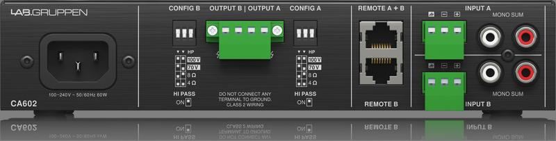 Lab Gruppen - X2B - ENTE CA602-UK