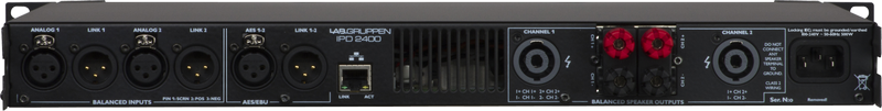 Lab Gruppen - X2B - ENTE IPD 2400 DSP Amp 2x1200W/4ohm CN