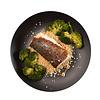 Rich-Meals Kabeljauwfilet gaar gestoomd in de oven, mals en vol van smaak