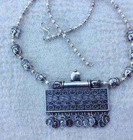 Hippy necklace amulet
