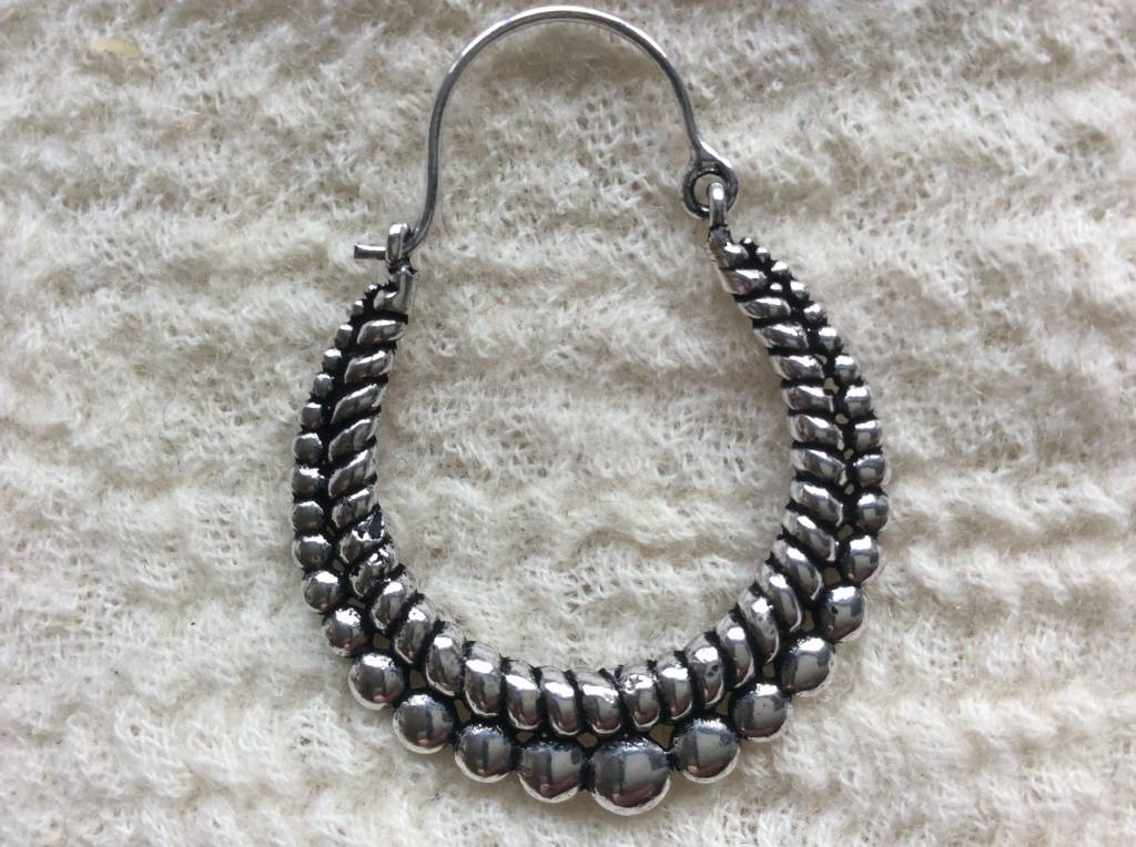5f4fb8356 Earring tribal bohemian gypsy hoops - Ma-India