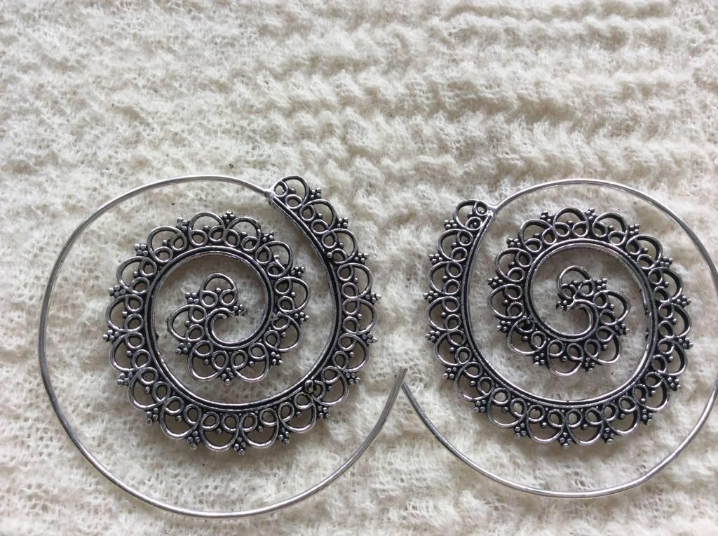 Spiral bohemian earrings  gypsy