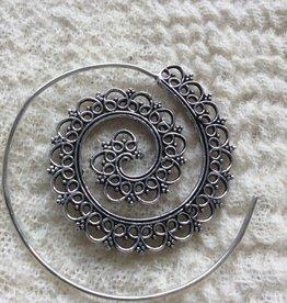 Spiral bohemian earrings  gypsy style