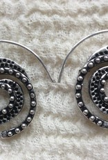 Spiral bohemian earrings  gypsy  Ibiza style