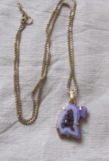 Pendant necklace hand made with real stones