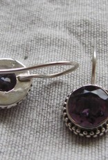 Earring silver with  excellent quality amethyst