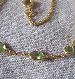 Halsketting goud op zilver
