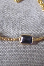 Necklace gold on silver and  Iolite stones
