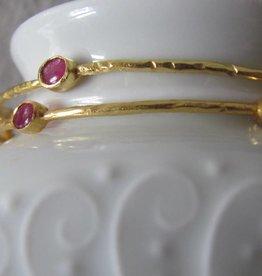 Armband goud op zilver