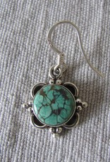 Earring silver with  turquoise