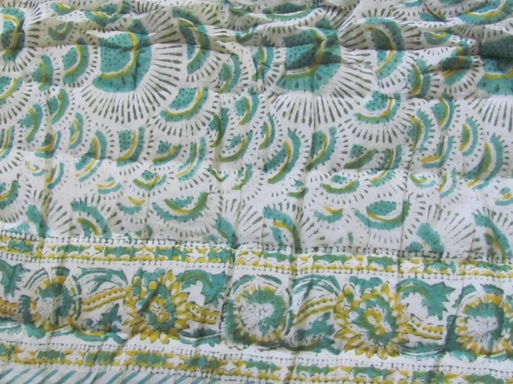 hippy night India quilting  Hand Bedrukt Single  Cotton