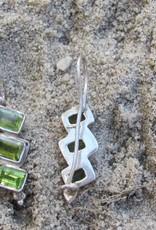 Oorbel zilver met peridot