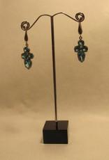 Earring silver with Blue zircon