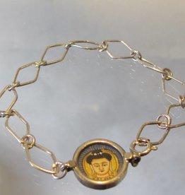 Armband zilver medaillon