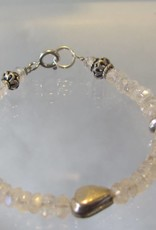 Armband zilver regenboogmaansteen