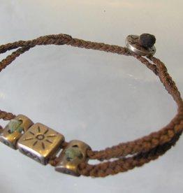 Armband zilver gevlochten