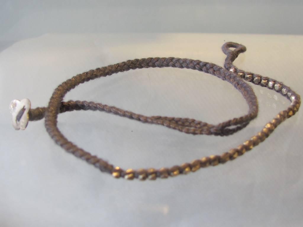Armband zilver gevlochten Double Wrap