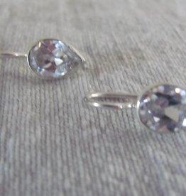 Silver earring zircon