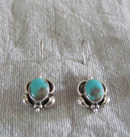 Silver earring turquoise