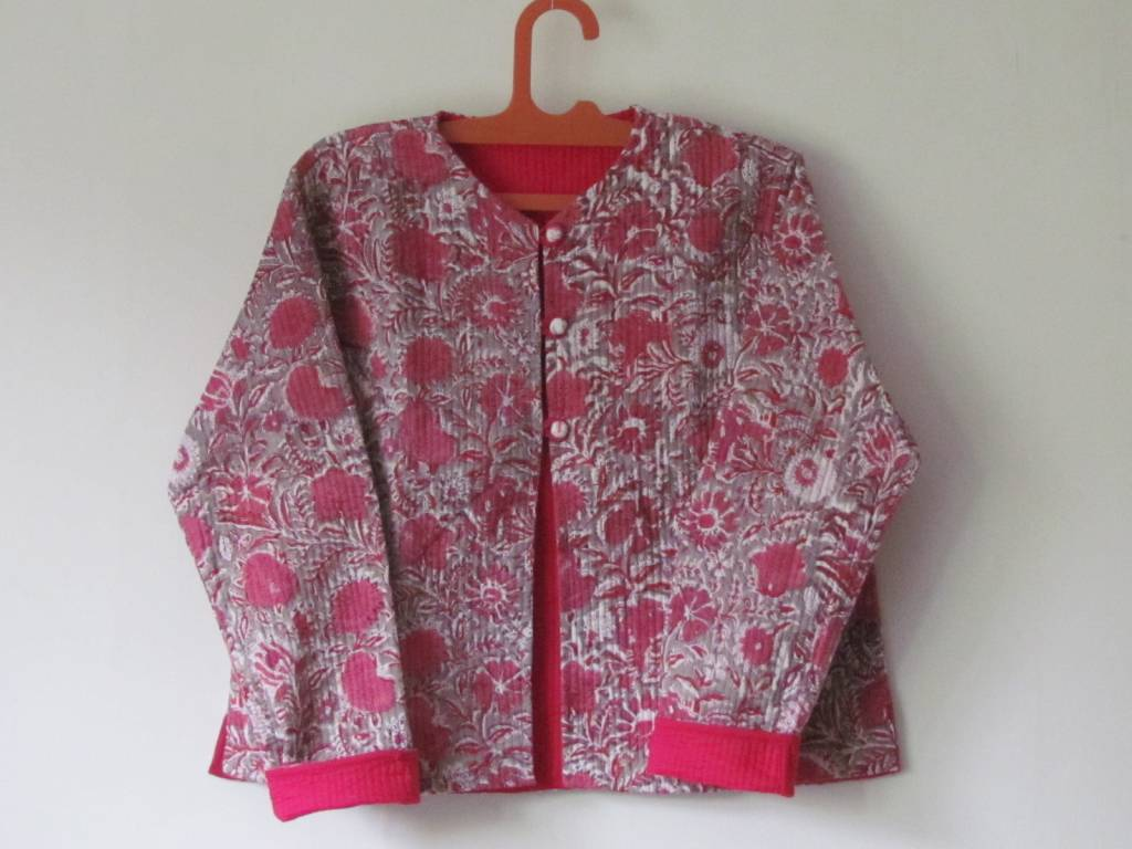 Jacket handprinted en quilted