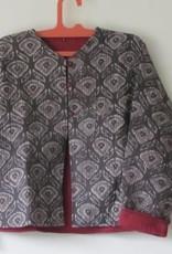 Jacket handprinted en quilted