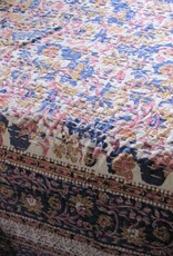 Counterpane,  hippy night in a bohemian style bedroom  with India quilting  double