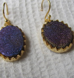 Earring  gold plating on silver