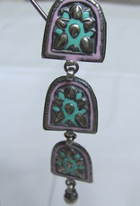 Silver earring antique finnish