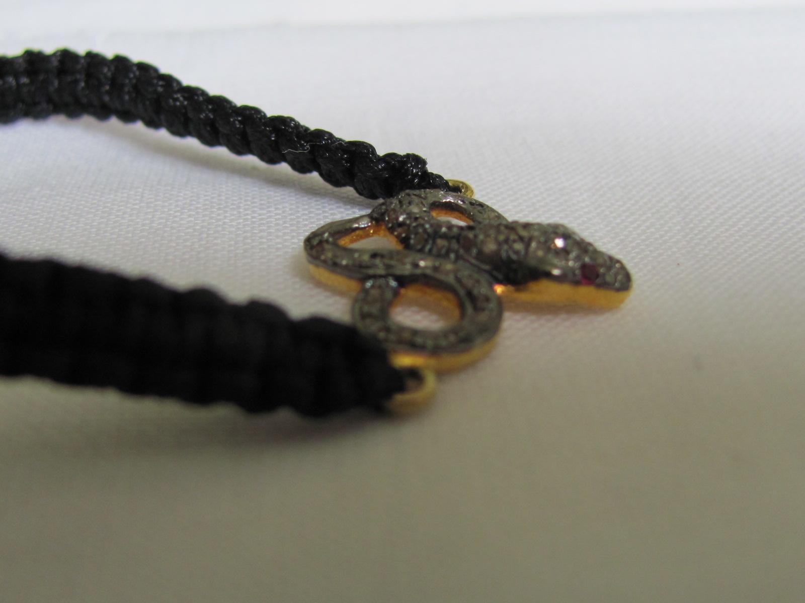 Armband silver diamonds   slang