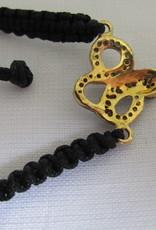 Bracelet gold on silver diamond snake