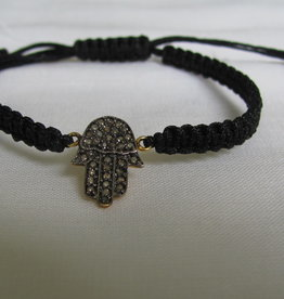 Bracelet gold on silver diamond hamsa