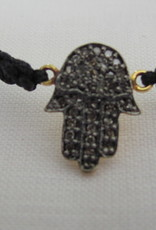 Bracelet gold on silver diamond hamsa