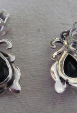 Oorbel zilver stekker met ioliet
