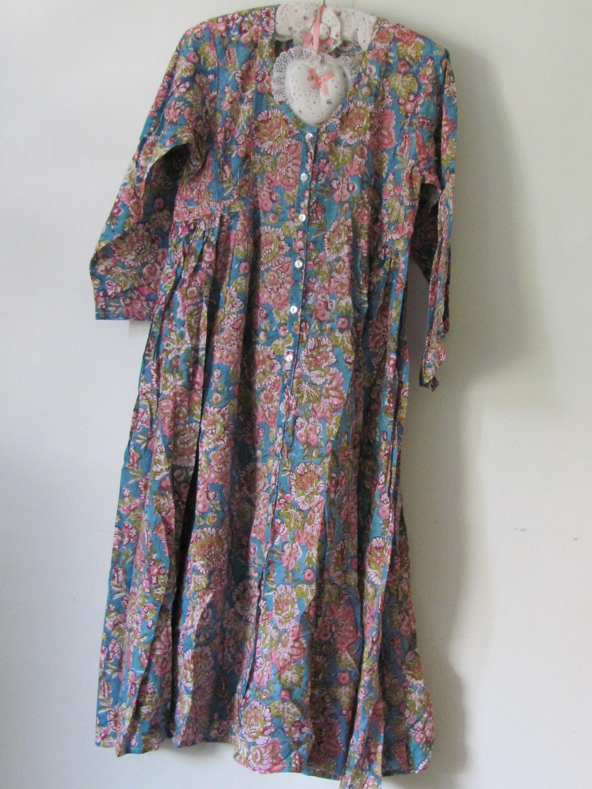 Block Print (over) jurk voluminous  rok, katoen
