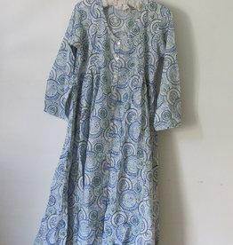 Block Print (over) jurk  volle rok