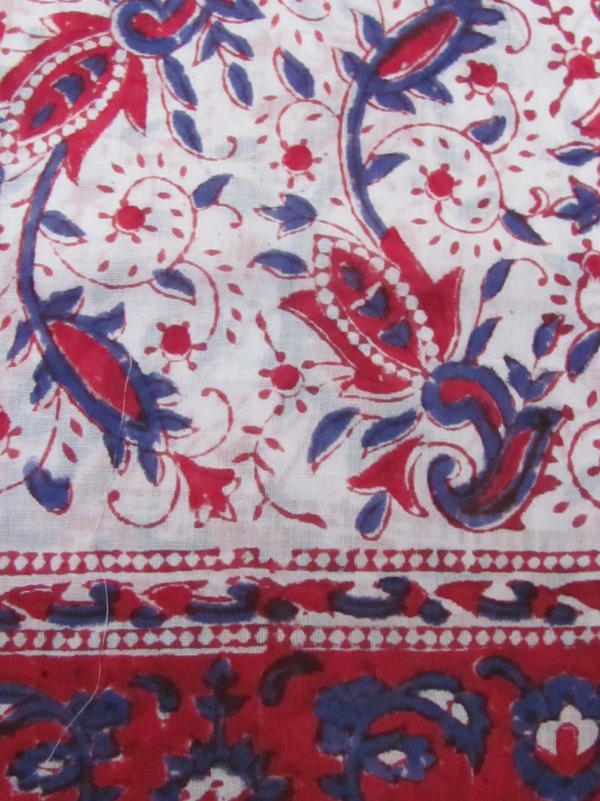 Shawl, Sarong, Pareo,  100% Handprinted Cotton