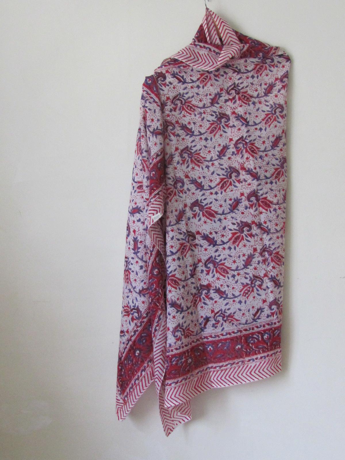 Sjaal,  Sarong,  Pareo , 100%  Handbedrukt Katoen