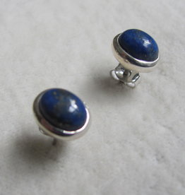 Earring silver lapis lazuli