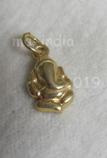 Pendant Ganesh gold on silver