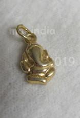 Pendant Ganesh goud op zilver
